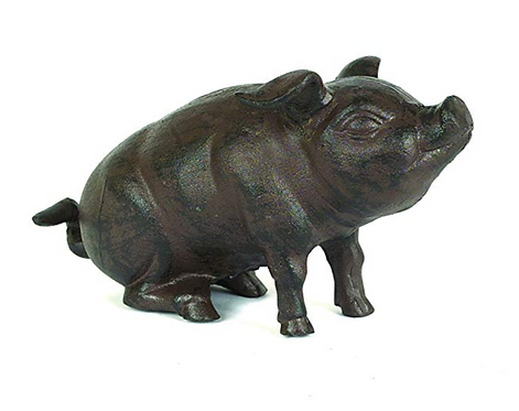 Creative Co-Op Cast Iron Pig