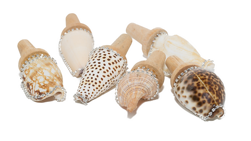 Charleston Sea Jewels Shell Wine Stopper