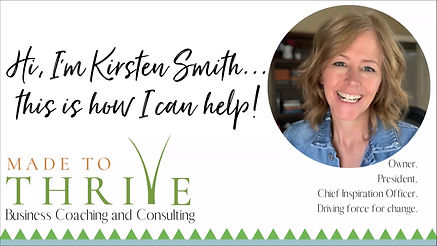 Made to Thrive's Founder, Kirsten Smith, introduces herself.
