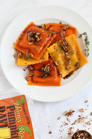 Pumpkin Ravioli and Browned Butter Balsamic Sauce