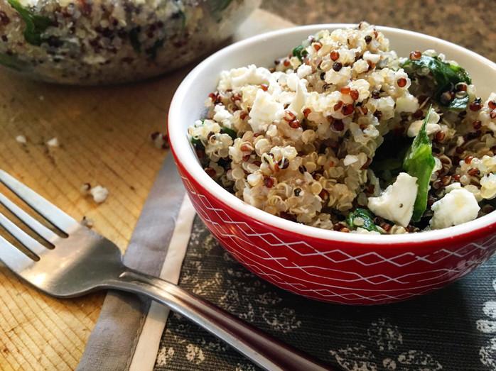 Warm Italian Quinoa Salad