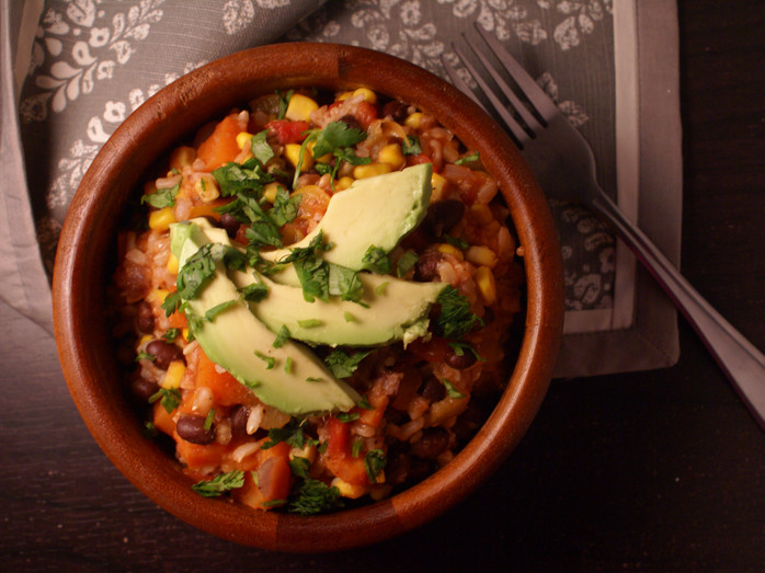 One Skillet Taco Hash