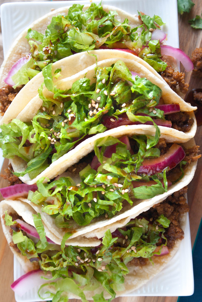 Korean BBQ Turkey Tacos
