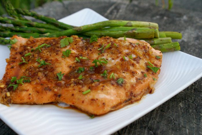 Spicy Honey Mustard Salmon
