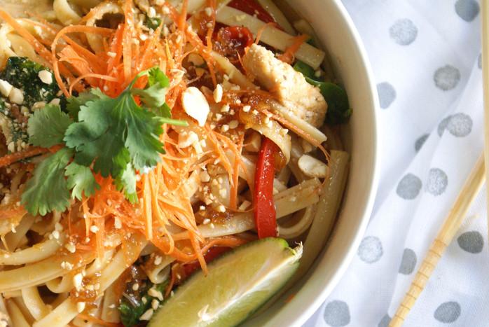 Sesame Sriracha Noodles