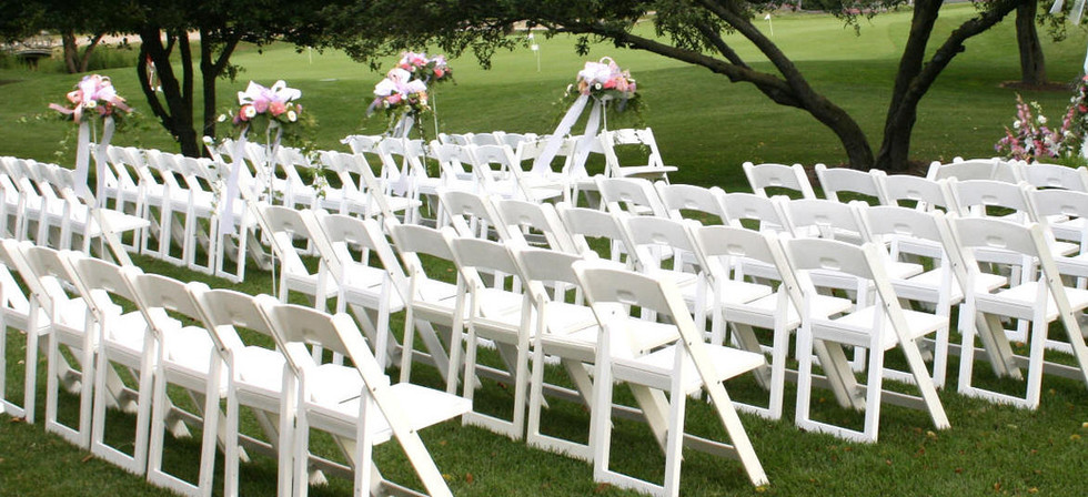 resin chairs rental