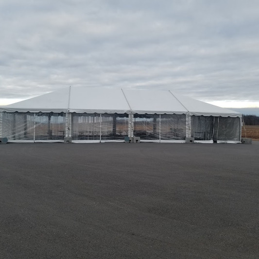 30x60 TENT WITH CLEAR WALLS