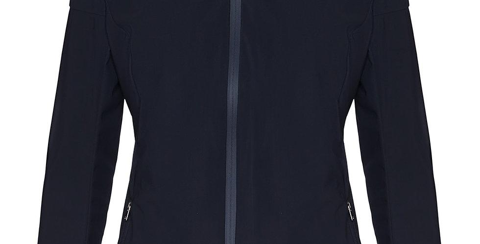 Cavalleria Toscana R-Lab Windblocker Hooded Jacket W/Side Zip, Navy