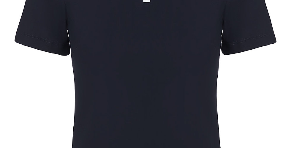 Cavalleria Toscana Jersey + Knit Competition S/S Polo, Navy