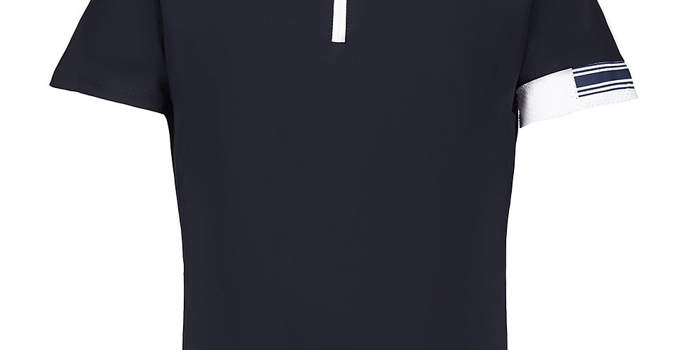 Cavalleria Toscana Jersey Competition Polo W/Laser Cut Logo Band, YR