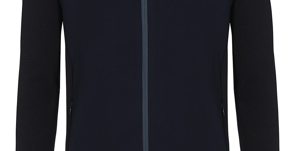 Cavalleria Toscana - Tech Jersey/Cotton Zip Sweater, Navy