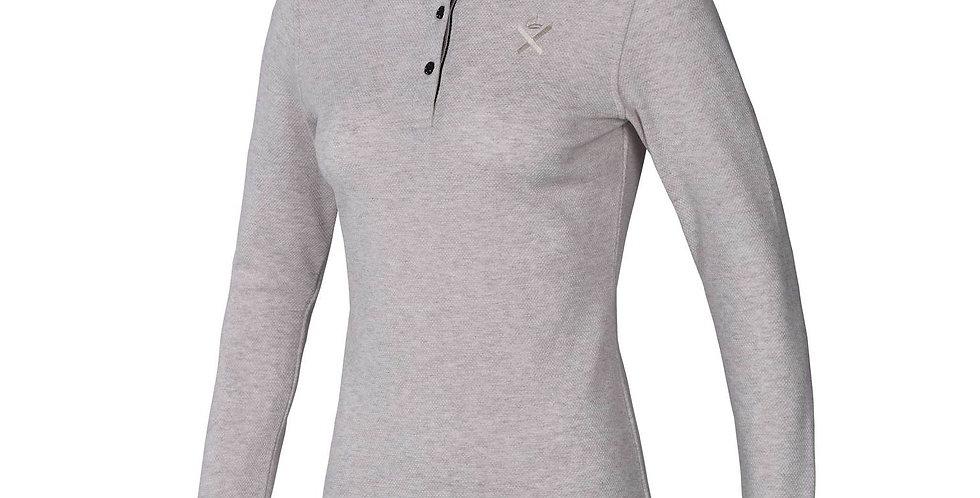 Kingsland - Waitomo Ladies LS Polo Shirt, Sand