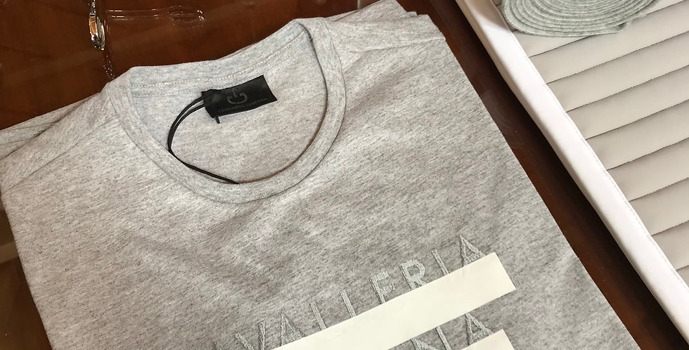 Cavalleria Toscana Peekaboo Crew Neck T-shirt, Grey