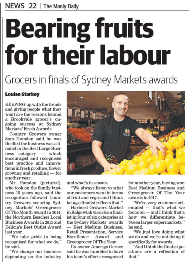 Sydney Markets - Fresh Awards