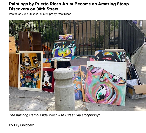 Paintings by Puerto Rican Artist Become