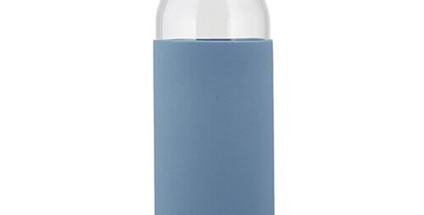 Glass Water Bottle w/ Bamboo Lid - Hello H2O