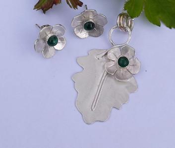 Hawthorn Pendant and Earrings set