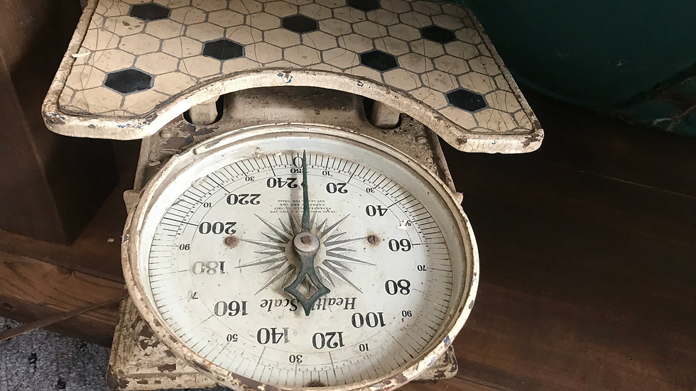 Vintage Weight Scale from 1920's