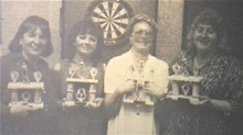 Kath was a late starter but flourished on the local darts scene and was also a finalist in the Embas