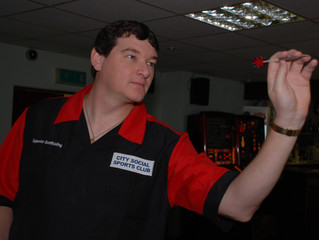 Three shoulder tumours cuts short a promising career for City Social ace Cunningham on the oche
