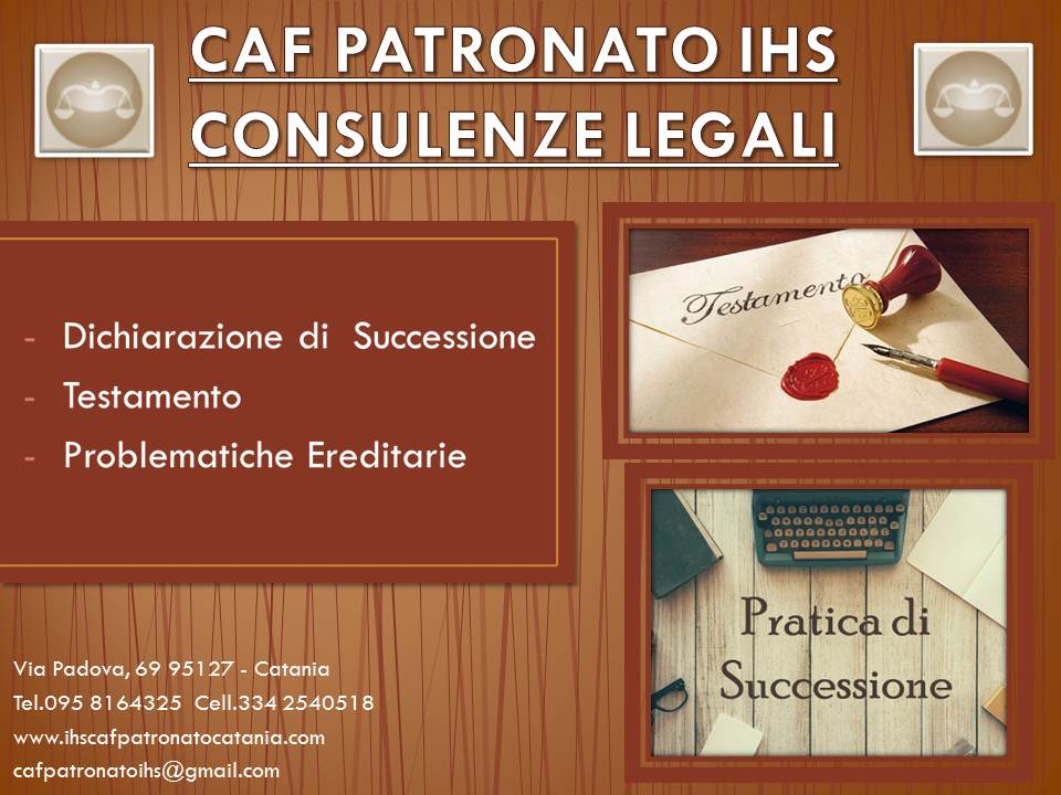 CAF PATRONATO IHS Successioni ok