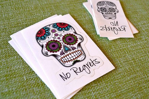 Party Pack: No Regrets Stickers + Tattoos