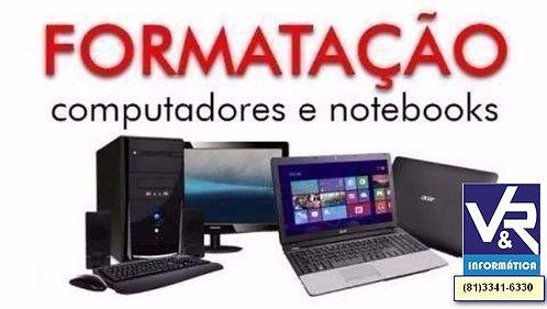 Formatação de Notebook Recife - Acer - Dell - Lenovo - CCE
