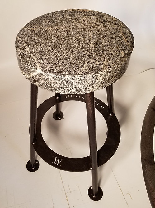 Gray Noise - Gneiss Metamorphic Granite Bar Stool