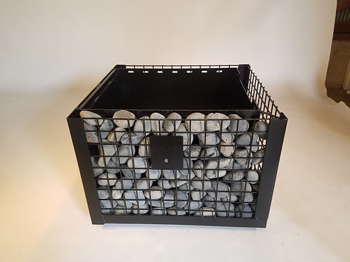 "Large Table Top Base, Gabion Style 26"" x 30"" Coffee Table Height"