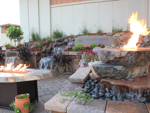 Fire Fountain and Table