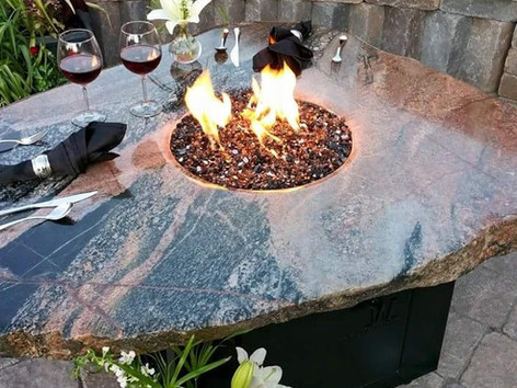 Stone Fire Table