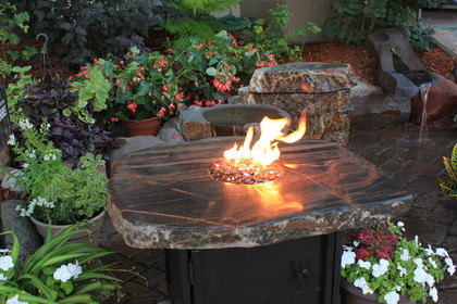 Stone Gas Fire Table