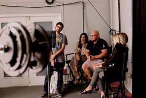 On set at Wheelhouse Media