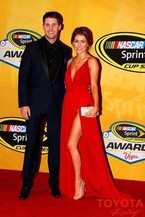 Denny Hamlin and Jordan Fish, NASCAR Gala