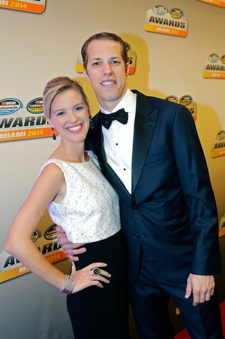 Brad Keselowski and Paige White, NASCAR Gala