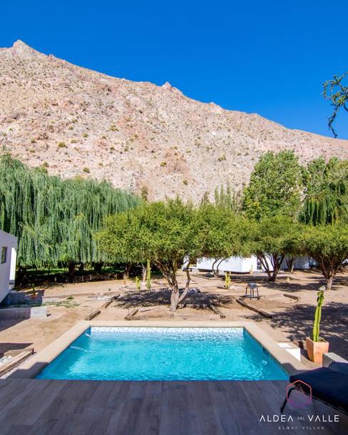Terraza con Piscina Villa Deluxe