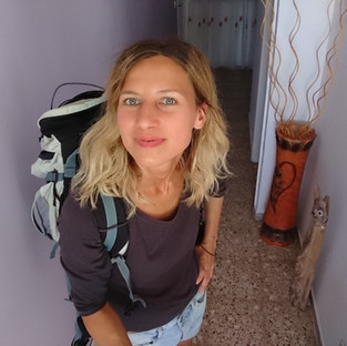 Girl travelling alone