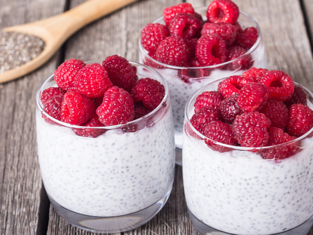 Creamy Raspberry Chia Breakfast Bowl