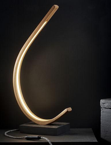 Steam bent LED lamp