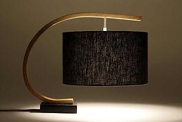 Steam Bent Oak Lamp