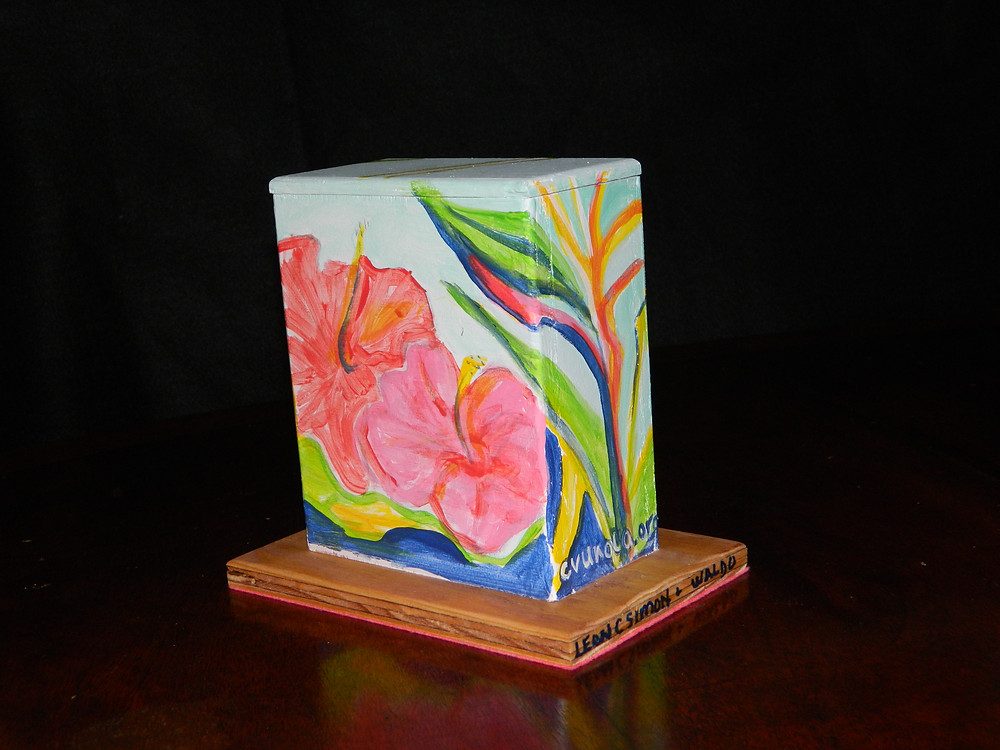 #10 Bird of paradise mini box @ Leon C. Simon & Waldo by Linda LeBoeuf