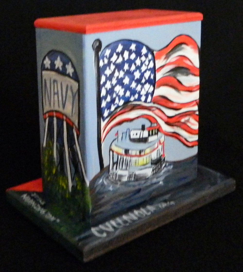 #23 Navy Flag Mini Box @ Shirley & General Meyer by Jessica Normington