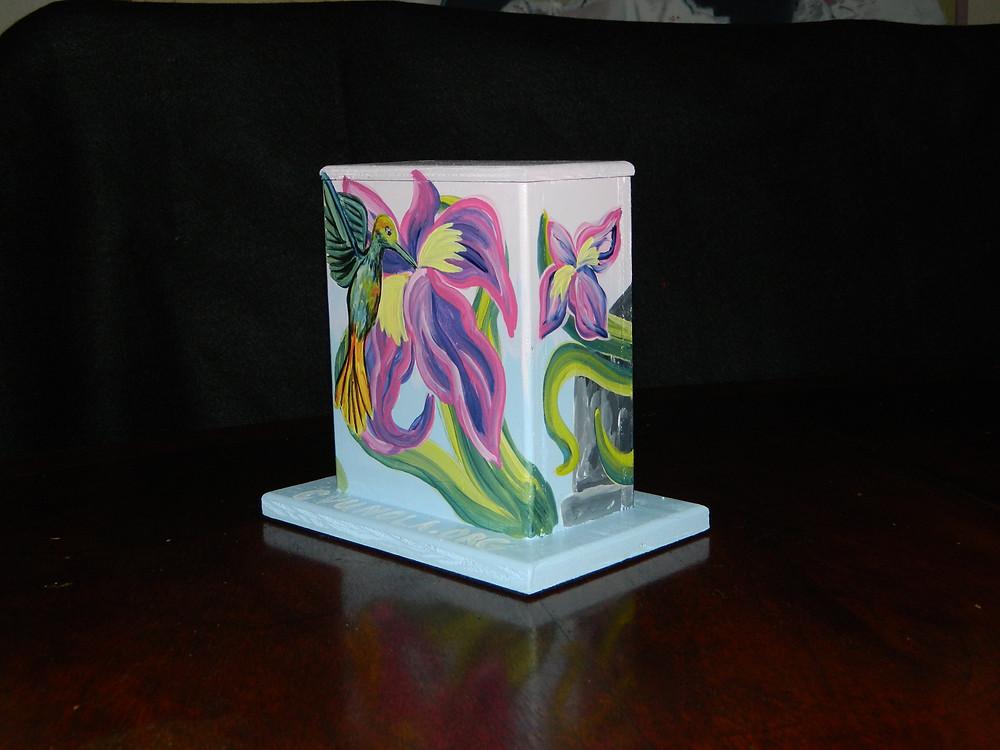 #15 iris & hummingbird @ Elysian Fields & Gentilly Blvd. by Jessica Normington