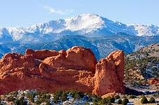 Garden of the Gods and Pike's Peak