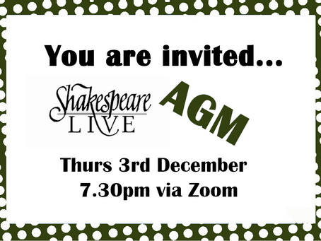 Shakespeare Live AGM