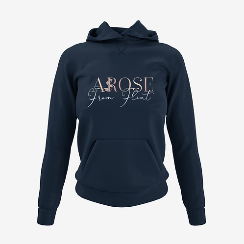 AROSE From Flint Hoodie - Navy