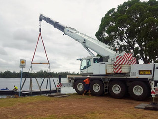 65T Tadano pontoon lift - Port Macquarie