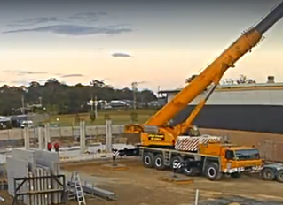 Construction at St Columba Anglican school Port Macquarie
