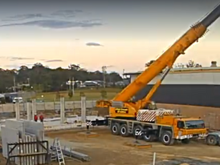 Construction at St Columba Anglican school Port Macquarie
