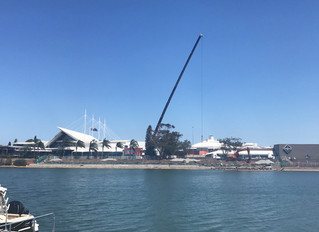 220 Tonne crane at Settlement City